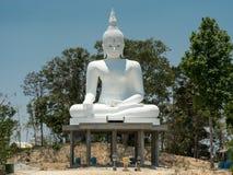 Buddha branco grande Foto de Stock Royalty Free