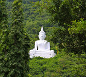 Buddha branco na montanha Imagens de Stock Royalty Free