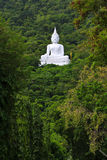 Buddha branco na montanha Foto de Stock Royalty Free