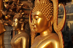 Buddha Brass Flank Body Royalty Free Stock Images