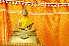 Buddha brass statue Royalty Free Stock Photography