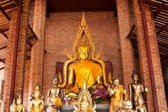 Buddha in brick church stock image