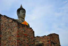 Buddha in brick wall. Of temple thailand Stock Image