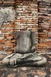Buddha broken arm and head Stock Photos