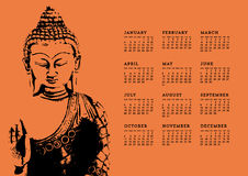 Buddha Calendar Royalty Free Stock Images