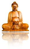 Buddha calmo de madeira Foto de Stock Royalty Free