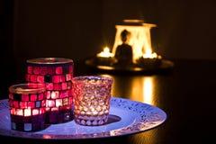 Buddha candles stock photography