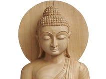buddha carved wood 免版税图库摄影