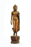 Buddha carved wood Royalty Free Stock Photography