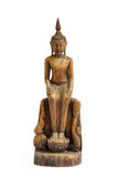 Buddha carved wood Stock Photography