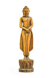Buddha carved wood Royalty Free Stock Image