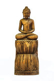Buddha carved wood Royalty Free Stock Images