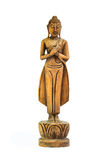 Buddha carved wood Royalty Free Stock Photos