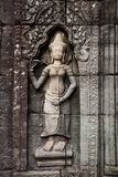 Buddha carving at Angkor Wat Stock Image