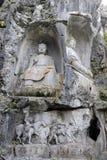 Buddha carving Hangzhou, China Stock Photos
