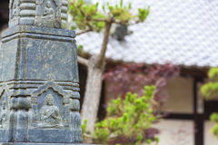 Buddha Carving Statue at Buddhist Temple Stock Photography