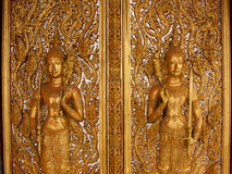 Buddha carving. In the Temple of Thailand royalty free stock photo