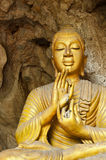Buddha in the cave. Royalty Free Stock Images