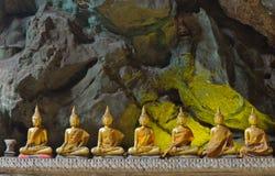 Buddha in cave,Khao Luang Cave,Phetchaburi Thailand Stock Image