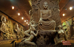 Buddha in cave Royalty Free Stock Photo