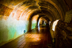 Buddha in cave. Buddha statue in a cave at umong tample Royalty Free Stock Photos