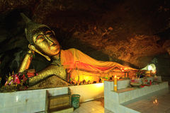 Buddha  in cave of Thailand Stock Images