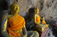 Buddha in a cave Royalty Free Stock Images