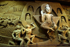 Buddha in caverna Fotografie Stock