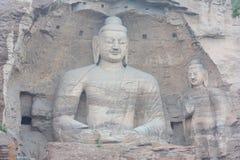 Buddha in caverna di pietra di YunGang Fotografia Stock