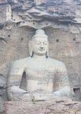 Buddha in caverna di pietra di YunGang Fotografia Stock Libera da Diritti