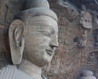 Buddha in caverna di pietra di YunGang Immagini Stock Libere da Diritti