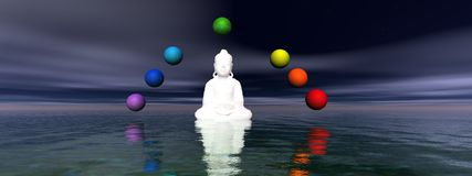 Buddha and chakra Royalty Free Stock Image