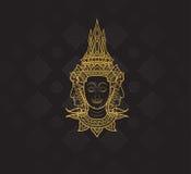 buddha characters of Ramayana,Thai Art Background pattern Royalty Free Stock Photo
