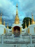 Buddha in a Chedi. Pai, Thailand. A statue of Buddha in a chedi in Pai, Thailand Royalty Free Stock Photos