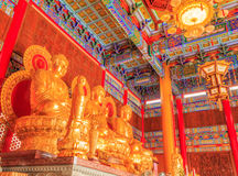 Buddha chińska świątynia przy Watem Leng Noei Yi Nonthaburi, Tajlandia obrazy royalty free