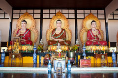 Buddha in Chinese temple Royalty Free Stock Photography
