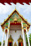 Buddha chruch in front view with arch Stock Photos