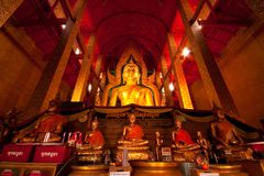 Buddha in the church Stock Image