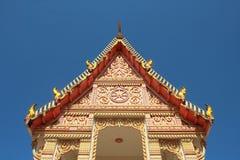 Buddha church roof. Detail of buddha church roof and sky Royalty Free Stock Photo
