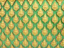 Buddha ściana Tajlandzki stylu wzoru projekt Obrazy Stock