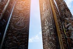 BUddha cinzelado madeira Imagens de Stock