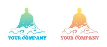 Buddha cloud logo Royalty Free Stock Image