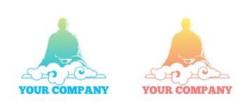 Buddha cloud logo vector illustration