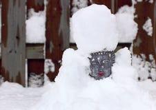Buddha coberto de neve Fotografia de Stock