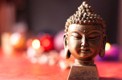 Buddha and colours. Buddha and light colours in background Stock Images