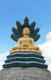 Buddha com serpente grande Imagem de Stock Royalty Free