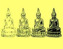 Buddha comparente Fotografia Stock Libera da Diritti