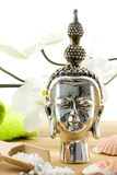 buddha composition with shells and bath products Stock Photo