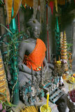 Buddha con le offerti fotografie stock