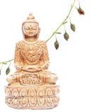 Buddha con los elementos florales Fotos de archivo libres de regalías